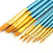 HOSL Paint Brush Set Acrylic 10pcs Professional Paint Brushes Artist for Watercolor Oil Acrylic Painting