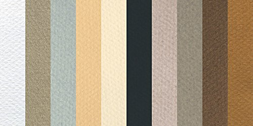 Canson Mi-Teintes 19 x 25 Inches Pastel Sheet, 10 Pack, Muted (C707-3077)