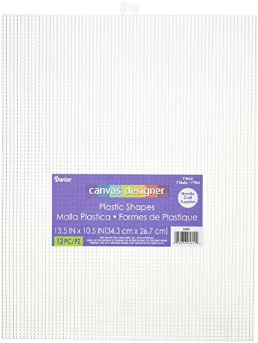 Darice Plastic Canvas, Clear, 12-Pack