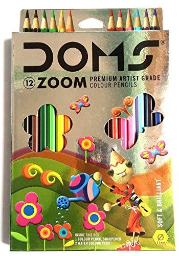 Doms Premium Artist Grade High Quality Colored Pencils Color Pencil Set (12 Count)
