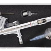 Master Airbrush® Brand, Model G23 Multi-purpose Precision .3mm Dual-action Medium Gravity Feed Airbrush with Curaway Handle – Now Included Is a (FREE) How to Airbrush Training Book to Get You Started, Published Exclusively By Master Airbrush