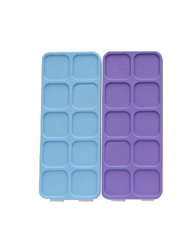 """1Pcs 10 wells Plastic Palette Box with Soft Cover for Watercolor Clip-on sets, Acrylic Paints 7″X 6″x1.2′"""""""