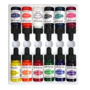 Dr. Ph. Martin's Spectralite Private Collection Liquid Acrylics Bottles, 0.5 oz, Set of 12 (Set 1)