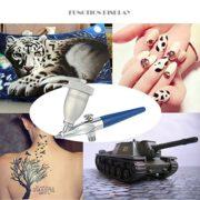 KKmoon Mini Sandblasting Airbrush Sandblaster Spray Model Air Brush Kit for Art Painting Tattoo Manicure Metal Etching Glass Engraving/Hand-cut Single Action Gravity Feed 0.5mm Spray Gun
