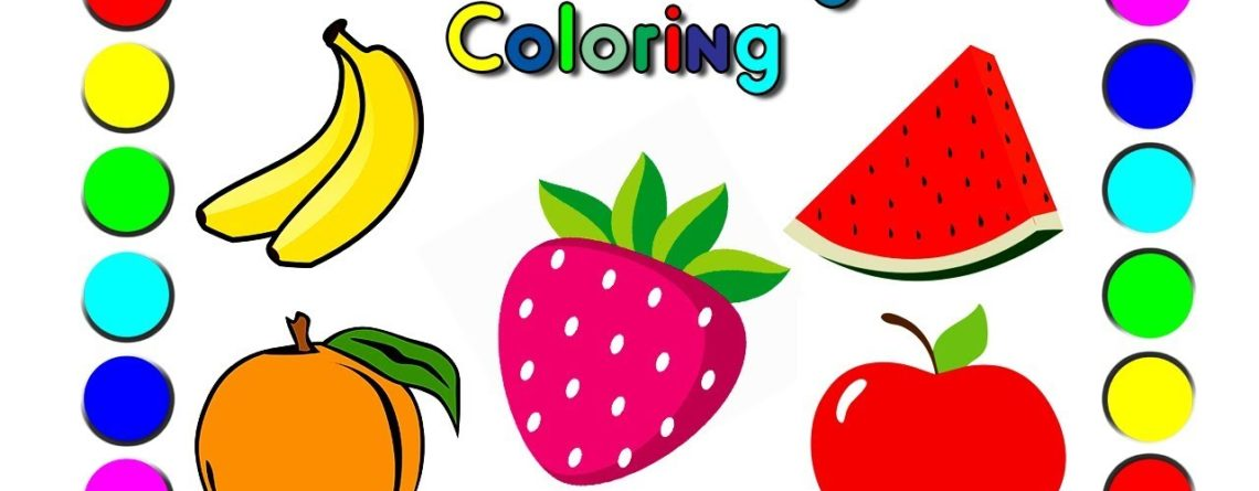 Watermelon Banana Strawberry Apple Orange Fruits Coloring Pages