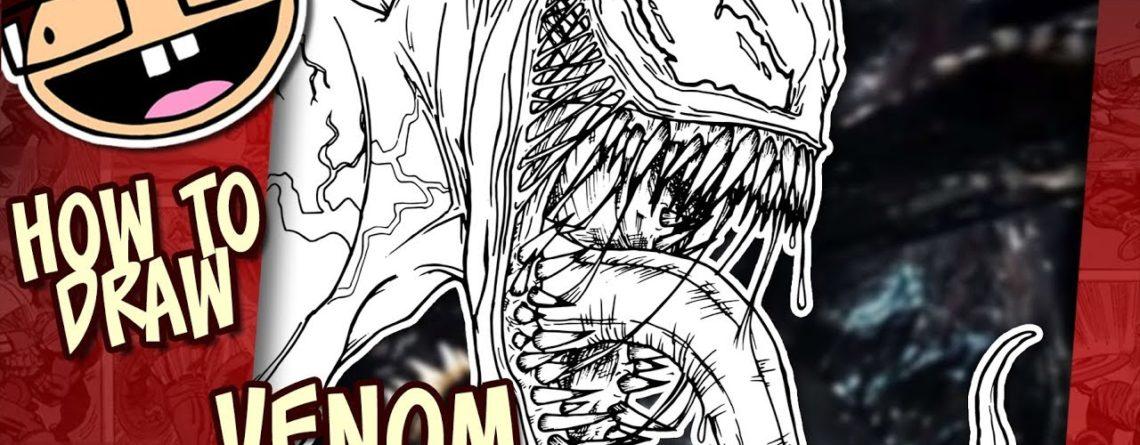 How To Draw Venom Venom 2018 Narrated Easy Step By Step Tutorial