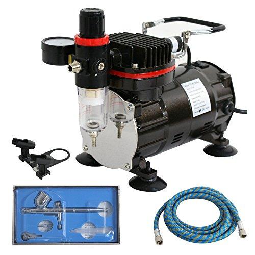 ZENY Dual-Action Multi-Purpose Airbrush Syestem Custom Paint Set Kit Air Compressor w/6Ft Hose
