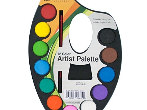Watercolor Paint Artist Palette With Mixing Tray – Pack of 24