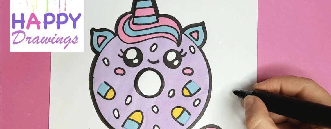 How To Draw A Cute Unicorn Donut Easy Drawing Tutorial