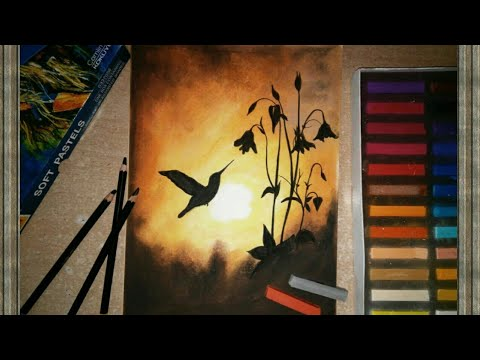 Soft Pastels Drawing Sunset Scenery For Beginners Easy