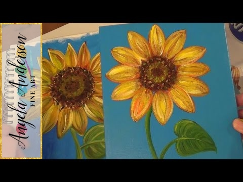 Cropped Sunflower Painting by Tiffany Budd  Easy Big Flower Paintings