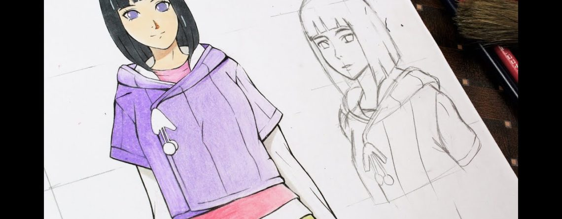 How To Draw Anime Girl Hinata Hyuga Full Body Tutorial