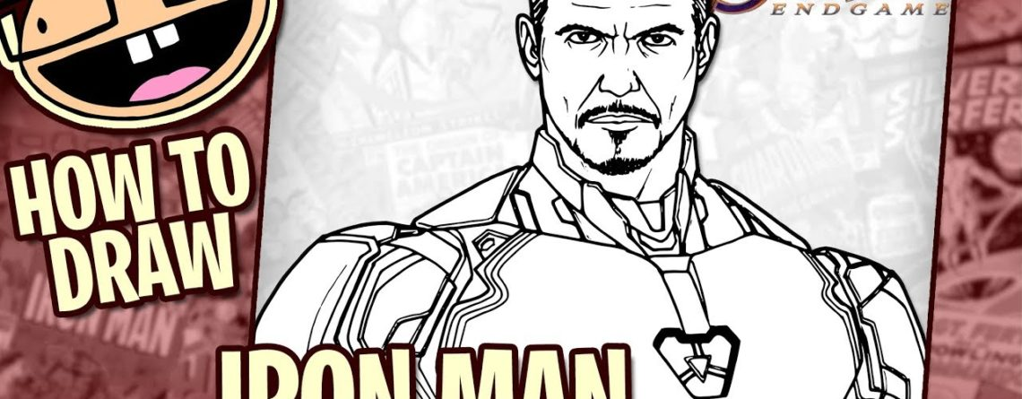 How To Draw Iron Man Avengers Endgame Narrated Easy Step By
