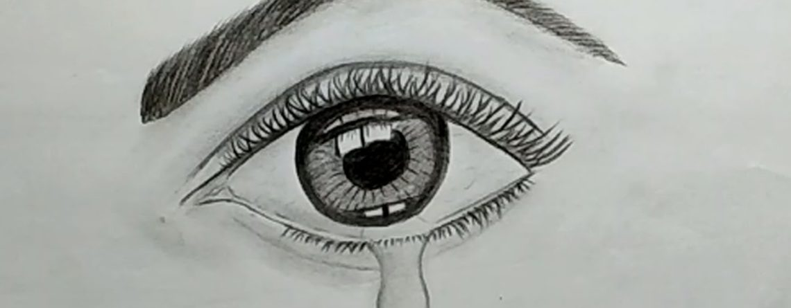 Pencil drawing tutorial | How to draw a crying eye with ...